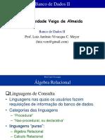 Banco de Dados II - Álgebra relacional