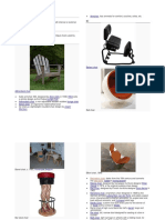 List of Tables & Chairs - 12 Pages