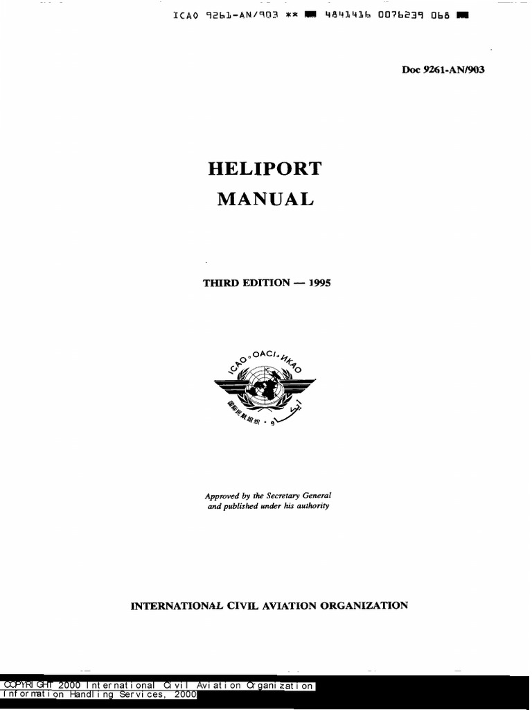 Doc 9261 Helipots Manual Takeoff Helicopter Imo Z8 Spin