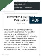 Maximum Likelihood Estimation – Stokastik