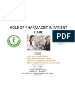 Role of Pharmacist in Patient Care