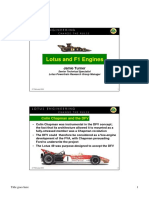 Lotus and F1 Engines