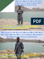 Geochemistry of Akara Kaur Dam