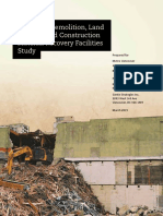Demolition Construction Material Recovery Facility Diversion Potential