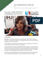 Uniradionoticias.com-Avala Alcaldesa Que Mensajes Falsos en Redes Sea Considerado Delito
