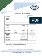 RAT IRATA Courses Application 2017