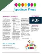 newsletter 3-9-18