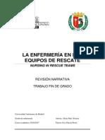 2016-2017 LA ENFERMERÍA EN LOS EQUIPOS DE RESCATE