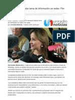 Uniradionoticias.com-Es Necesario Legislar Tema de Información en Redes Flor Ayala