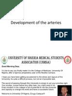 Development of the Arteries
