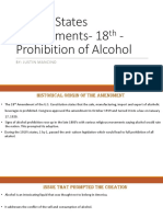united states amendments-2 18th - prohibition of alcohol