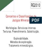 Conceitos e Classificações de Jazigos