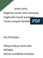 Lirik Lagu Negeri Sarawak