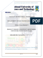 PLC, SCADA & PIC Based Adaptable Automated Product Weighing Conveyor System - 5th Year Project