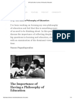 ARTICLES _ Why You Need a Philosophy of Education