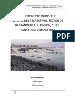 Anteproyecto Quiosco y Actividades Recreativas j.ogalde, r.castro
