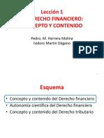 L01 Concepto y Contenido Del Derecho Financiero