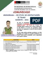 Comunicado III Etapa - II Tramo (1)