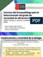 Dominio del fonoaudiólogo para la determinación del grado de viscosidad de alimentos líquidos