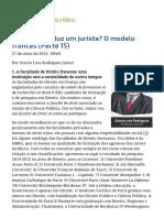 ConJur - Como Se Produz Um Jurista_ O Modelo Francês (Parte 15)