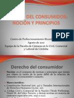 1 DERECHO DEL CONSUMIDOR Nocion y Principios Centro Nunez 2017