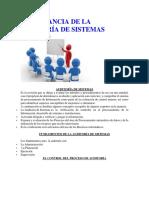 Importancia de La Auditoría de Sistemas