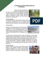 Actividades Productivas Más Importantes de Guatemala