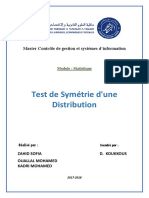 Test de Symétrie Dune Distribution (1)