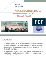 La Declaración de Río Sobre El Medio Ambiente