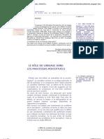 Le rôle du langage dans les processus perceptuels, Alfred Korzybski