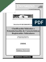 Clasidicacion Vehicular