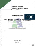 inventario y evaluacion de fuentes de agua subterranea