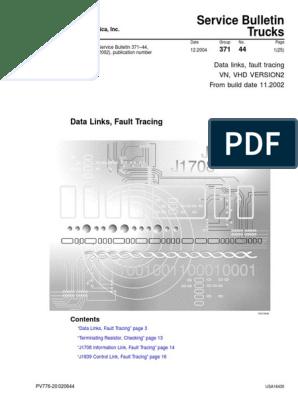 Volvo J1939 J1708 Datalink Fault Tracing | Electrical