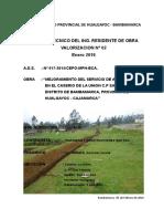 Informe Técnico Del Residente de Obra