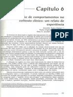 Categorização de Comportamentos No Contexto Clínico - Um Relato de Experiência