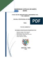 Informe 11 Politica Ambiental