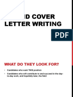 CV Writing Presentation