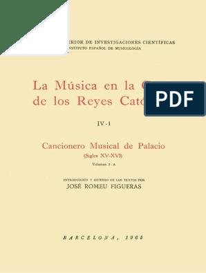 La Música En La Corte De Los Reyes Católicos Iv 1