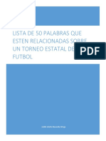 Lista de 50 Cosas Sobre El Futbol