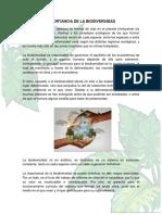 IMPORTANCIA de LA BIODIVERSIDAD Estructura y Fisiologia de Los Insectos