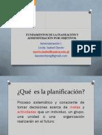 Fundamentos de La Planeaciòn. 12-07-2016. Admon. i
