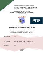 61019231 Informe Elaboracion de Yogur Batido