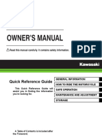 2015 Kawasaki W800 Owner Manual