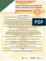 Encontro de Equipes Técnicas dos Juizados de Violência Doméstica e Familiar contra a Mulher (PJERJ)