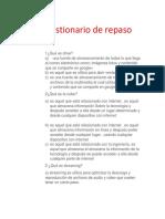 Cuestionario de Repaso .