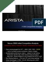 Cisco Nexus 3548 vs Arista 7150S