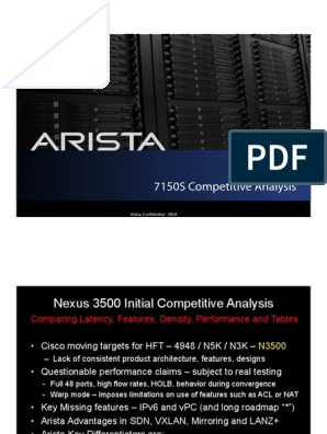 Cisco Nexus 3548 vs Arista 7150S | I Pv6 | Internet Protocols