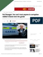Pat Flanagan- You Can't Trust Anyone in Corruption-riddled Ireland Even the Gardai - Pat Flanagan - Irish Mirror Online