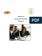 Manual de Excel 2013 Modulo 4