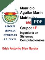 Reporte Citrex Veracruz